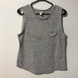 Mossimo supply co. Grey tank top with pocket M